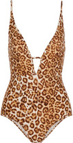 Zimmermann Alchemy cutout leopard-print swimsuit