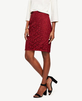 Ann Taylor Tall Lace Pencil Skirt