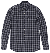 Denham Pocket Brushed Flannel Shirt, Grey Marl