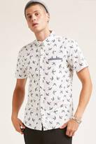 21men 21 MEN Slim-Fit Bird Print Shirt