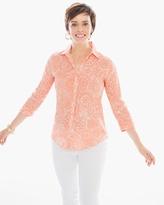 Chico's Linen Whimsy Batik Sina Shirt