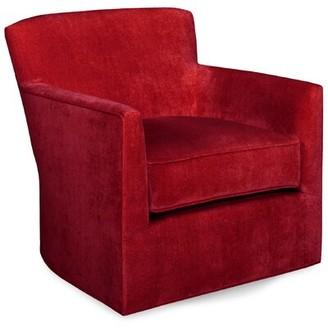 Tory Furniture Rowan Swivel Armchair Upholstery: Scarlet