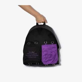 Raf Simons X Eastpak black padded backpack