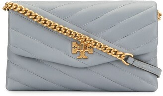 Tory Burch Kira Chevron wallet on chain