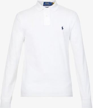 Polo Ralph Lauren Long-sleeved cotton-pique polo shirt