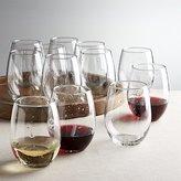 Crate & Barrel Set of 12 Flock Stemless Wine Glasses