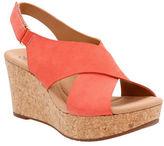 Clarks Cushion Soft Anadeleirwyn Nubuck Leather Wedge Sandals