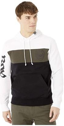 G Star G-Star Graphic 15 Hooded Sweatshirt Long Sleeve (White/Asfalt/Dark Black) Men's Clothing