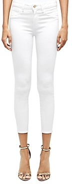 L'Agence Luciana High-Rise Back-Zip Skinny Jeans