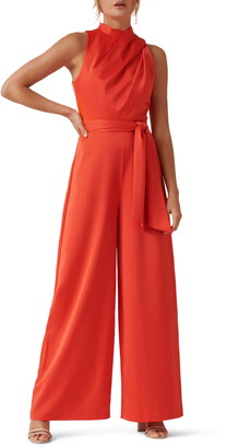 Ever New Drape Belted Wide Leg Jumpsuit
