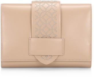 Alaia Simone Arabesque Studded Leather Clutch