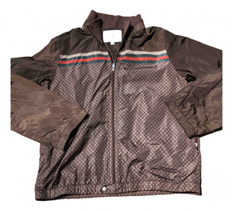 Gucci Brown Synthetic Jackets & Coats