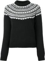 Saint Laurent fair isle knit jumper