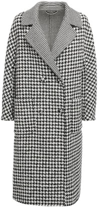 Ermanno Scervino Double Breast Houndstooth Coat