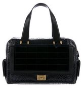 Jimmy Choo Leather-Trimmed Snakeskin Bag