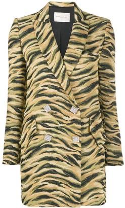 Giuseppe di Morabito Double-Breasted Animal Pattern Blazer
