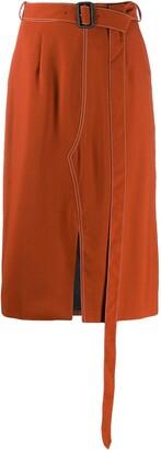 Marni Belted Tulip Skirt