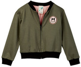 Jenna & Jessie Long Sleeve Bomber Jacket With Graphic (Little Girls)