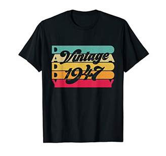 Vintage 1947 T-Shirt Daddy Birthday Tee Born In 1947
