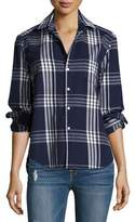 Frank And Eileen Eileen Button-Front Plaid Cotton Shirt
