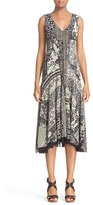 Fuzzi Women's Mosaic Tulle A-Line Dress