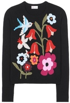RED Valentino Knitted Wool-blend Sweater