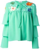 Au Jour Le Jour tiered sleeve embroidered blouse