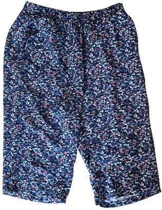 Liberty of London Designs Blue Viscose Trousers