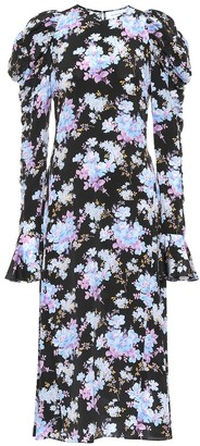 Les Rêveries Exclusive to Mytheresa Floral silk-crepe midi dress