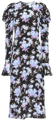 Les Rêveries Exclusive to Mytheresa floral silk-crepe midi dress