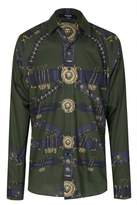 VersaceGoldBucklePrintedShirt