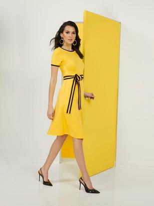 New York & Co. Colorblock Ponte Dress - Superflex