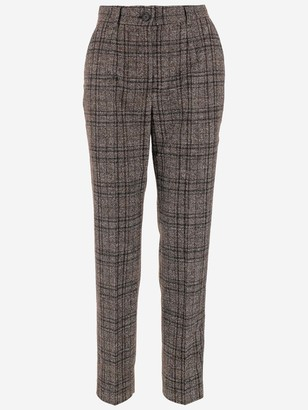 Dolce & Gabbana Tartan Tailored Trousers