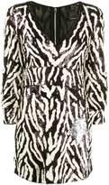 Pinko sequin zebra-striped dress