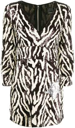 Pinko sequin zebra-striped dress