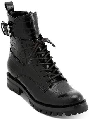 Dolce Vita Women's Paxtyn Croc-Embossed Hiker Boots
