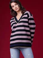 Diane von Furstenberg V-Neck Oversized Pullover Sweater