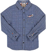 Scotch Shrunk CHECKED COTTON BUTTON-FRONT SHIRT