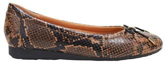 Hush Puppies The Ballet Brown Snake Flat Shoe