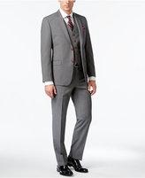 Lauren Ralph Lauren Men's Big & Tall Slim-Fit Gray Pinstripe Total Stretch Vested Suit