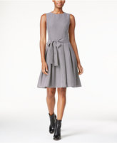 Tommy Hilfiger Printed Bow Fit & Flare Dress