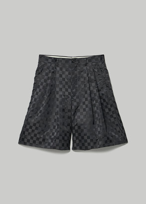 Comme des Garcons Women's Jacquard Pattern Checkered Short in Black Size 3