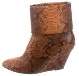 Just Cavalli Embossed Ankle Boots