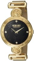 Versus By Versace Women's Sunnyridge Quartz Stainless Steel Casual Watch, Color:Gold-Toned (Model: SOL100016)
