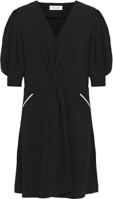 Hofmann Copenhagen Twist-front Printed Crepe Mini Dress