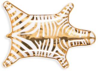 Jonathan Adler Zebra Metallic Porcelain Stacking Dish