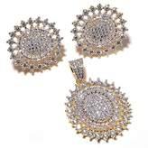Jewar Mandi Gemstone CZ Pendant Set Stylish Fashion Natural Look Diamond Branded Fine Beauty Jewelry