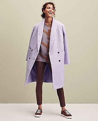 Ann Taylor Petite Shawl Collar Cocoon Coat