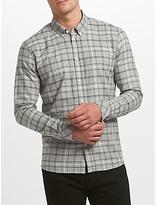 Samsoe & Samsoe Jay Check Shirt, Grey Melange Check