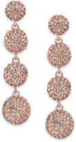 INC International Concepts Rose Gold-Tone Pink Pavandeacute; Orb Linear Drop Earrings, Created for Macy's